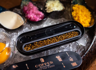 Copper Buffet Caviar Set